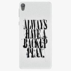 iSaprio Plastový kryt - Backup Plan - Sony Xperia E5