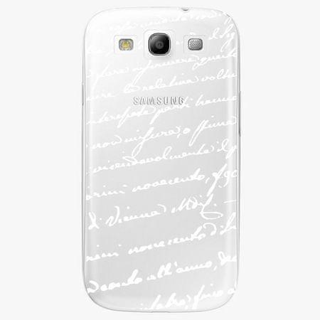 iSaprio Plastový kryt - Handwriting 01 - white - Samsung Galaxy S3