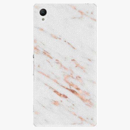 iSaprio Plastový kryt - Rose Gold Marble - Sony Xperia Z1
