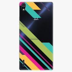 iSaprio Plastový kryt - Color Stripes 03 - Huawei Ascend P7