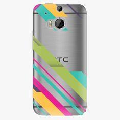 iSaprio Plastový kryt - Color Stripes 03 - HTC One M8