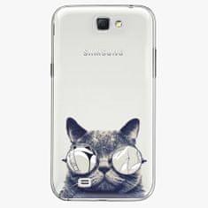 iSaprio Plastový kryt - Crazy Cat 01 - Samsung Galaxy Note 2