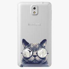 iSaprio Plastový kryt - Crazy Cat 01 - Samsung Galaxy Note 3