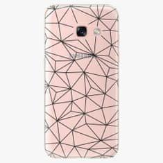 iSaprio Plastový kryt - Abstract Triangles 03 - black - Samsung Galaxy A3 2017