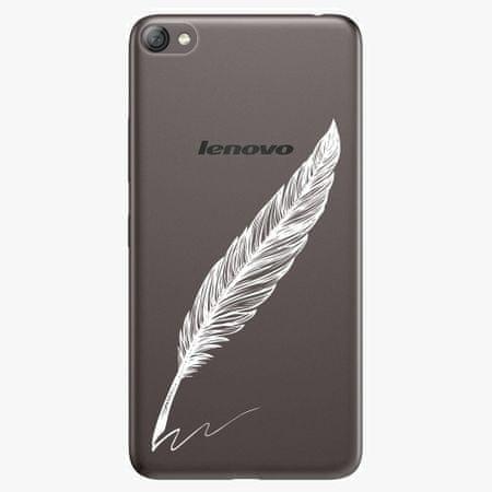 iSaprio Plastový kryt - Writing By Feather - white - Lenovo S60