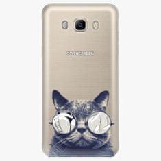 iSaprio Plastový kryt - Crazy Cat 01 - Samsung Galaxy J7 2016
