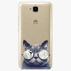 iSaprio Plastový kryt - Crazy Cat 01 - Huawei Y6 Pro