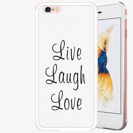 iSaprio Plastový kryt - Live Laugh Love - iPhone 6 Plus/6S Plus - Rose Gold