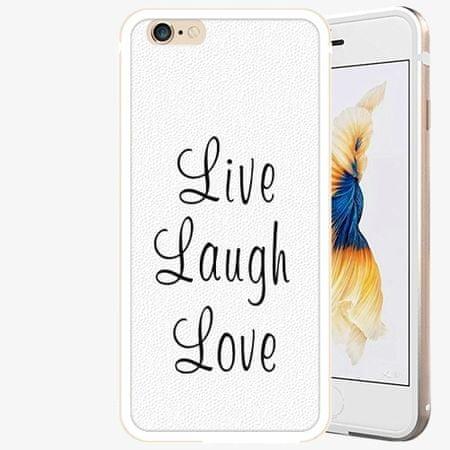 iSaprio Plastový kryt - Live Laugh Love - iPhone 6 Plus/6S Plus - Gold