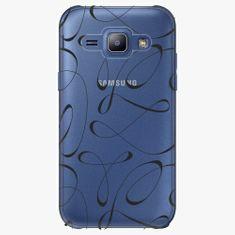 iSaprio Plastový kryt - Fancy - black - Samsung Galaxy J1