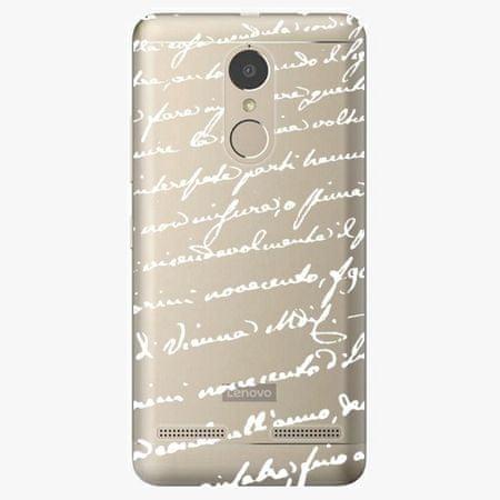 iSaprio Plastový kryt - Handwriting 01 - white - Lenovo K6