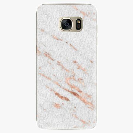 iSaprio Silikonové pouzdro - Rose Gold Marble - Samsung Galaxy S7 Edge