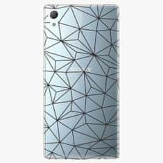 iSaprio Plastový kryt - Abstract Triangles 03 – black - Sony Xperia Z3+ / Z4