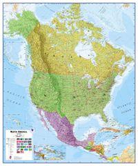 Severní Amerika - nástěnná politická mapa 100 x 120 cm