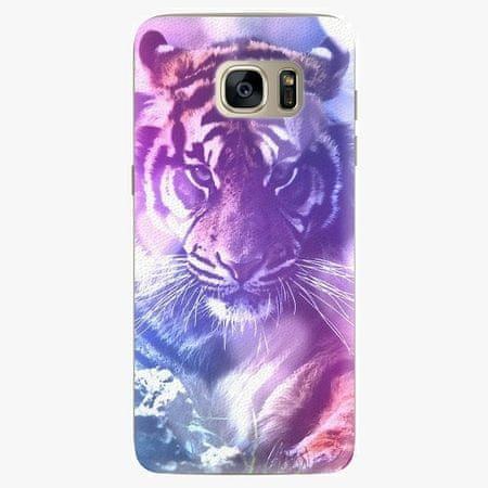 iSaprio Silikonové pouzdro - Purple Tiger - Samsung Galaxy S7 Edge