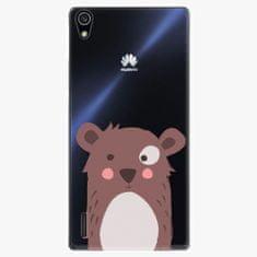 iSaprio Plastový kryt - Brown Bear - Huawei Ascend P7