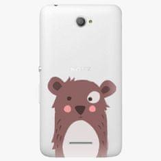 iSaprio Plastový kryt - Brown Bear - Sony Xperia E4
