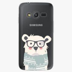 iSaprio Plastový kryt - Bear With Scarf - Samsung Galaxy Trend 2 Lite