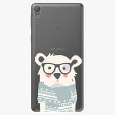 iSaprio Plastový kryt - Bear With Scarf - Sony Xperia E5