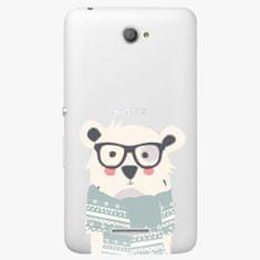 iSaprio Plastový kryt - Bear With Scarf - Sony Xperia E4