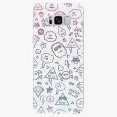 iSaprio Silikonové pouzdro - Funny Clouds - Samsung Galaxy S8