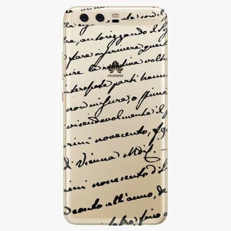 iSaprio Silikonové pouzdro - Handwriting 01 - black - Huawei P10