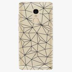 iSaprio Plastový kryt - Abstract Triangles 03 - black - Xiaomi Redmi Note 4