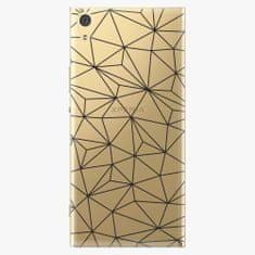 iSaprio Plastový kryt - Abstract Triangles 03 - black - Sony Xperia XA1 Ultra