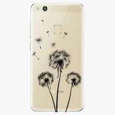 iSaprio Silikonové pouzdro - Three Dandelions - black - Huawei P10 Lite