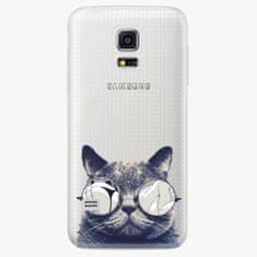 iSaprio Plastový kryt - Crazy Cat 01 - Samsung Galaxy S5 Mini