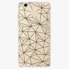 iSaprio Plastový kryt - Abstract Triangles 03 - black - Xiaomi Redmi 4X