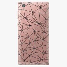 iSaprio Plastový kryt - Abstract Triangles 03 - black - Sony Xperia L1