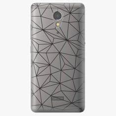 iSaprio Plastový kryt - Abstract Triangles 03 - black - Lenovo P2