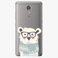 iSaprio Plastový kryt - Bear with Scarf - Lenovo P2