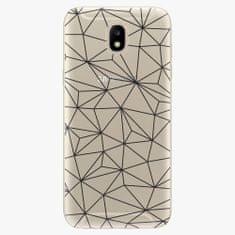 iSaprio Plastový kryt - Abstract Triangles 03 - black - Samsung Galaxy J5 2017