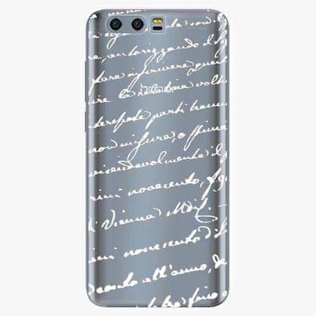 iSaprio Silikonové pouzdro - Handwriting 01 - white - Huawei Honor 9
