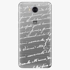 iSaprio Silikonové pouzdro - Handwriting 01 - white - Huawei Y5 2017 / Y6 2017