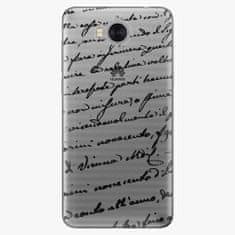 iSaprio Plastový kryt - Handwriting 01 - black - Huawei Y5 2017 / Y6 2017