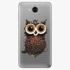 iSaprio Silikonové pouzdro - Owl And Coffee - Huawei Y5 2017 / Y6 2017