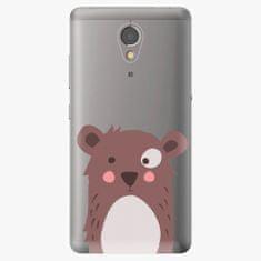 iSaprio Plastový kryt - Brown Bear - Lenovo P2