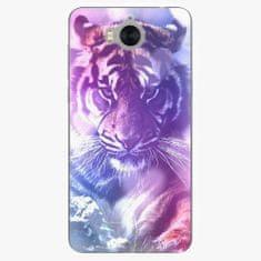 iSaprio Silikonové pouzdro - Purple Tiger - Huawei Y5 2017 / Y6 2017