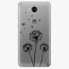iSaprio Silikonové pouzdro - Three Dandelions - black - Huawei Y5 2017 / Y6 2017