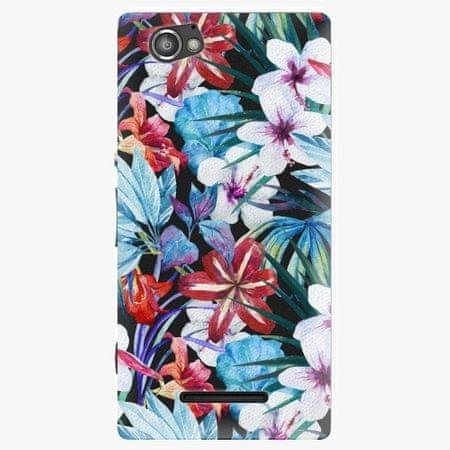 iSaprio Plastový kryt - Tropical Flowers 05 - Sony Xperia M
