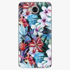 iSaprio Silikonové pouzdro - Tropical Flowers 05 - Huawei Y5 2017 / Y6 2017