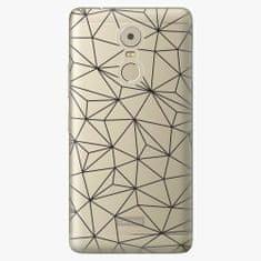iSaprio Plastový kryt - Abstract Triangles 03 - black - Lenovo K6 Note