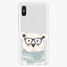 iSaprio Plastový kryt - Bear with Scarf - Xiaomi Mi 8