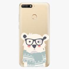 iSaprio Plastový kryt - Bear with Scarf - Huawei Y6 Prime 2018