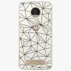iSaprio Plastový kryt - Abstract Triangles 03 - black - Lenovo Moto Z Play