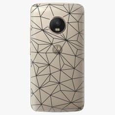 iSaprio Plastový kryt - Abstract Triangles 03 - black - Lenovo Moto G5 Plus