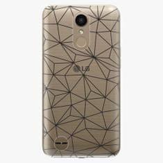 iSaprio Plastový kryt - Abstract Triangles 03 - black - LG K10 2017